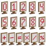 Покрашенные плиты с номерами и математически символами Стоковая Фотография RF