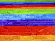 Покрашенные радугой лестницы бетона улицы стоковое фото