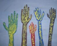 покрашенные руки Стоковые Фотографии RF