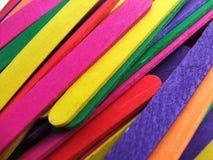 покрашенные ручки popsicle Стоковое Изображение