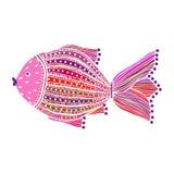 Покрашенные рыбы на белой предпосылке Стоковое Изображение RF