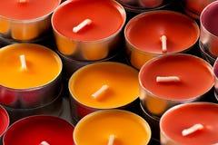 Покрашенные свечки Стоковая Фотография RF