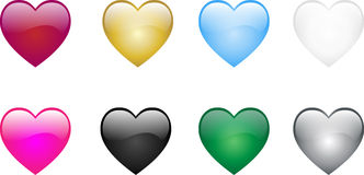 покрашенные сердца Стоковая Фотография RF