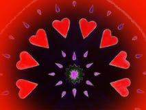 покрашенные сердца красными Стоковые Фотографии RF