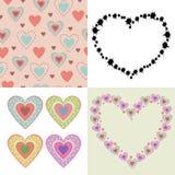 Покрашенные симпатичные сердца Стоковая Фотография RF