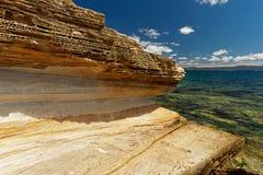 Покрашенные скалы, остров Марии, Тасмания, национальное ресервирование, Австралия стоковые фотографии rf