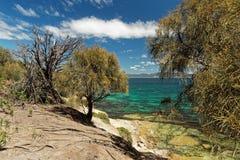 Покрашенные скалы, остров Марии, Тасмания, национальное ресервирование, Австралия стоковые изображения rf