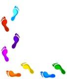 покрашенные следы ноги Стоковая Фотография RF