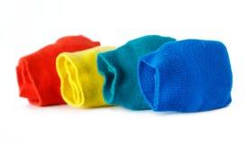 покрашенные сложенные носки Стоковые Изображения