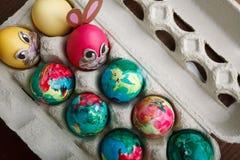 Покрашенные собственной личностью пасхальные яйца Стоковые Фотографии RF