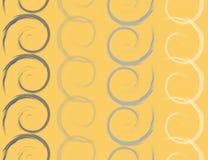 Покрашенные спирали, безшовная картина, иллюстрация Стоковая Фотография RF