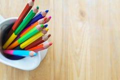 покрашенные стеклянные карандаши стоковое фото