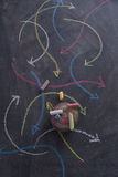 Покрашенные стрелки криволинейные Стоковое Изображение