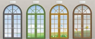 Покрашенные сдобренные двери Стоковые Изображения