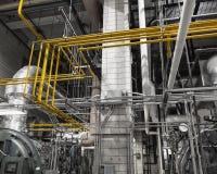 Покрашенные топление и трубопровод для газа Стоковая Фотография RF