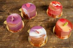 Покрашенные торты Стоковое Фото
