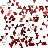 Покрашенные треугольники голубой вектор неба радуги изображения облака Хаотическое размещение геометрических форм eps 10 иллюстрация штока