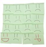 Покрашенные усмешки на стикерах Стоковое фото RF