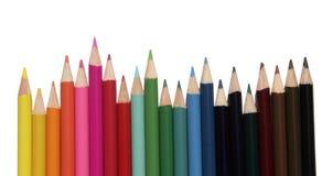покрашенные установленные карандаши Стоковое фото RF
