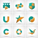 покрашенные установленные иконы Стоковые Изображения RF