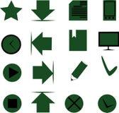 покрашенные установленные иконы Стоковое фото RF