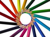 покрашенные установленные карандаши Стоковое Фото