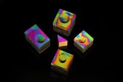 покрашенные формы Стоковые Изображения