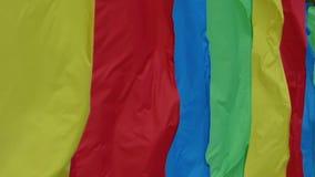 Покрашенные флаги дуя на сильном ветере акции видеоматериалы