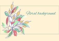 Покрашенные цветки вектора в нежном мульти-цвете иллюстрация вектора