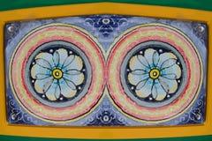 Покрашенные цветки - иллюстрация вектора Стоковое фото RF
