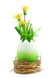 покрашенные цветки пасхального яйца желтыми Стоковое Изображение