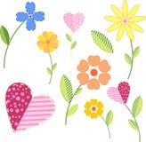 покрашенные цветки Стоковая Фотография