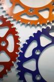 Покрашенные цепные колеса мотоцикла Стоковые Фотографии RF