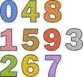 Покрашенные цифры Стоковая Фотография RF