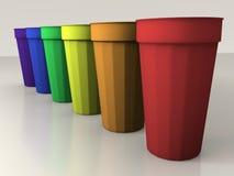 покрашенные чашки иллюстрация штока