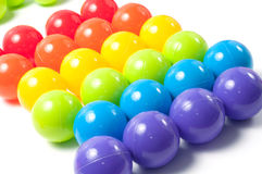 покрашенные шарики пластичными Стоковое Фото