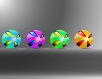 покрашенные шарики Стоковая Фотография RF