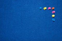 Покрашенные штыри на доске Стоковое фото RF