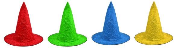 Покрашенные шляпы ведьмы стоковые изображения rf