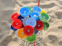 Покрашенные ashtrays пляжа Стоковые Изображения