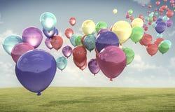 Покрашенные baloons Стоковое Изображение RF