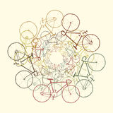 покрашенные bikes Стоковое Фото