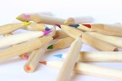 Покрашенные crayons â карандашей Стоковое Фото
