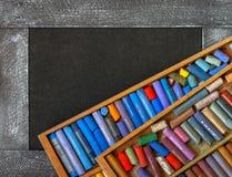 покрашенные crayons пастельные Стоковые Фото
