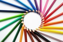 покрашенные crayons Стоковое Изображение RF