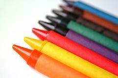 покрашенные crayons Стоковые Фотографии RF