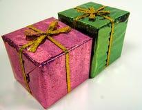 покрашенные giftboxs стоковые фотографии rf