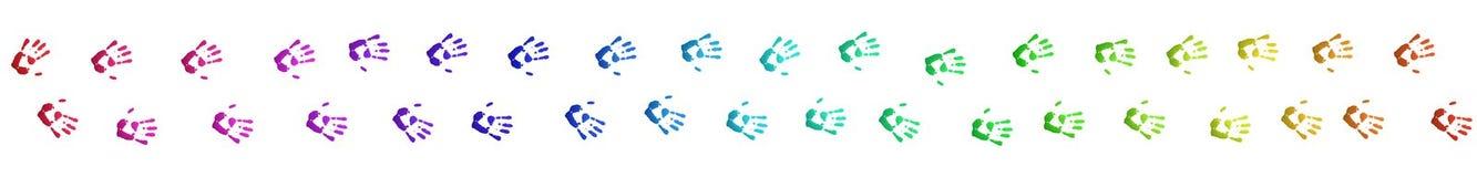 покрашенные handprints Стоковая Фотография RF