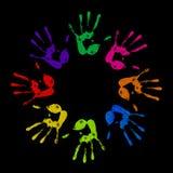 Покрашенные handprints Стоковое Изображение