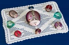 Покрашенные Ladybugs Стоковое Изображение RF